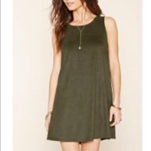 Forever 21 green suede dress